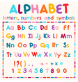 Latin alphabet isolated on white background vector image vector image