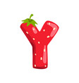 letter y of english alphabet made from ripe fresh vector image vector image