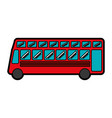 london bus transport vehicle icon vector image vector image