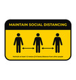 maintain social distancing keep safe distance in vector image