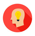 man head lamp circle icon vector image vector image
