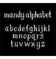 mandy alphabet typography vector image vector image
