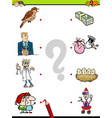 match objects educational game for kids vector image
