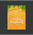 merry christmas orange glowing background with vector image vector image