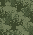 Military camouflage background of old trees vector image