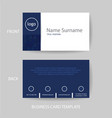 modern and clean business card design template vector image vector image