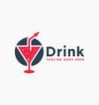 modern fresh drink logo vector image