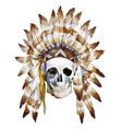 Native skull vector image