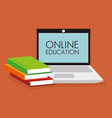 on line education with laptop vector image vector image