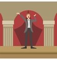 Opera Singer Performing In Classic Theatre vector image vector image