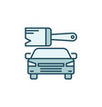 paint brush with car concept colored icon vector image