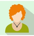 Redhead woman avatar icon vector image vector image