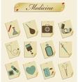 retro icons medicine vector image vector image