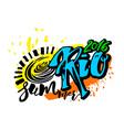 Rio de Janeiro Brazil summer 2016 vector image vector image