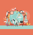 scientific research flat style design vector image