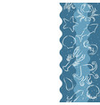 seafood seamless banner with contour animals vector image vector image