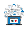 search engine optimization flat icons vector image vector image