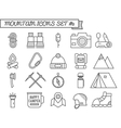 Set of Camp travel icons thin line style flat vector image vector image