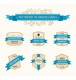 set vintage ornate decor vector image