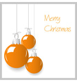 shiny orange color christmas decoration baubles vector image vector image