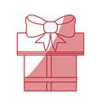 shopping gift box vector image vector image