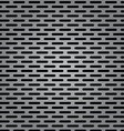 Silver metal background with elongated grill slots vector image