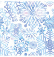 snow seamless pattern winter holiday christmas vector image vector image