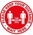 social distancing signage or floor sticker vector image vector image