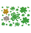 St patricks day design of clover leaves and heart vector image