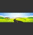 summer and spring season horizontal banner vector image vector image