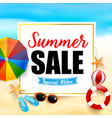 summer sale titile on white rectangle 001 vector image