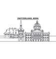 switzerland bern line skyline vector image