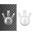 three neck glass flask laboratory glassware test