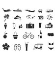 travel and holiday icons set vector image