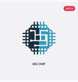 two color big chip icon from technology concept vector image vector image