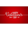 Valentines Day Line Vintage Lettering Background vector image