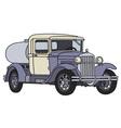 Vintage tank truck vector image vector image