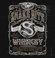 Vintage Whiskey Label T-shirt Graphic vector image vector image