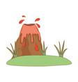 volcano prehistoric landscape scene vector image