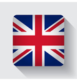 Web button with flag of the UK vector image