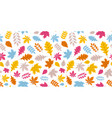 white autumn background with colorful leaves vector image vector image