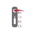 wine door concept with bottle design template vector image