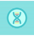 DNA color flat icon vector image