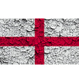Flag of England with old texture vector image