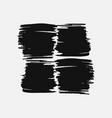 abstract black thick smear of paint isolated on a vector image