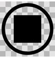 Flat black singl icon pause on transparent vector image