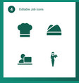4 job icons vector image vector image