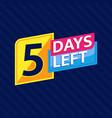 5 days left countdown banner