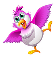 A cute colorful bird vector image vector image