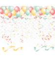 abstract celebration ribbon is blown style vector image